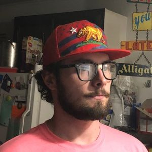 Accessories - Dope republic CA red Cali flag bear SnapBack hat 4b77da32e341